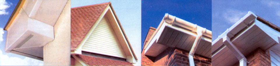Photos of guttering, soffits, fascias and cladding