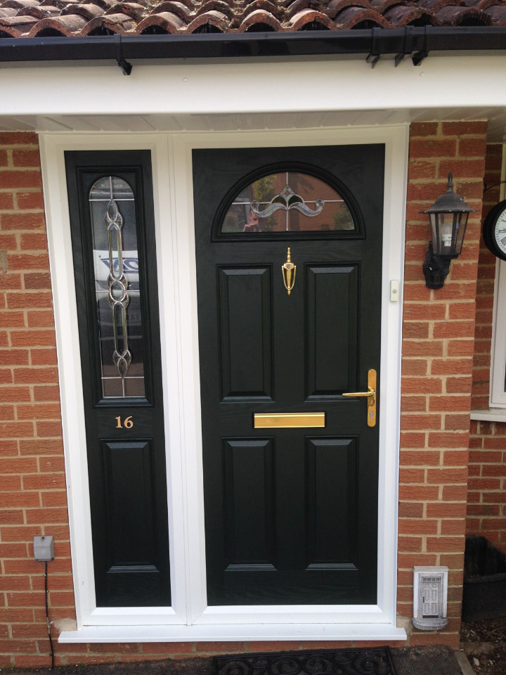Another photo of a composite door installation by JDN Plastics
